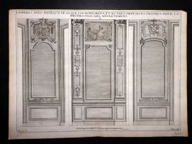 Vignola 1720 Architectural Print. Decoration of Cabinets 118